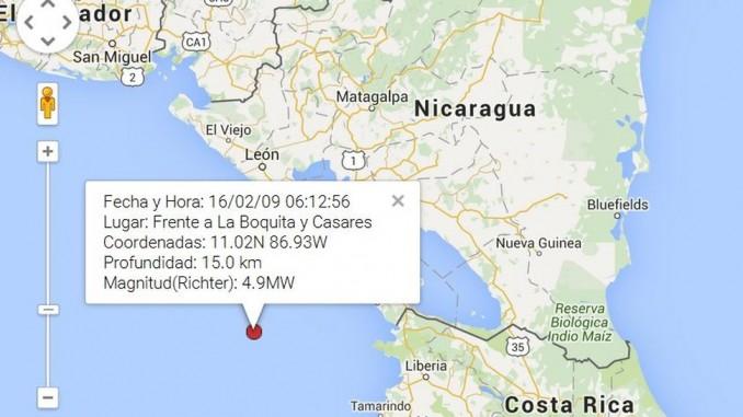 sismo,nicaragua,pacífico,ineter,