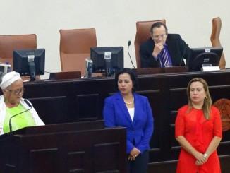 Juramentación de las  dos Magistradas en el CSE. Foto Alexander Silva Vanegas /Radio Corporación
