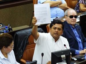 Jefe de la Bancada opositora PLI, Diputado Wilber Lopez . Foto Alexander Silva/RC