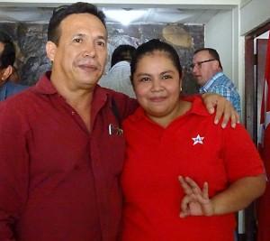 Raul Morales y Karla Nororis precandidata por Masaya.