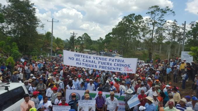 marcha multitudinaria,nueva guinea,canal interoceánico,derogación de ley 840,campesinos,