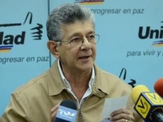 Henry Ramos Allup, presidente de Asamblea Nacional de Venezuela.
