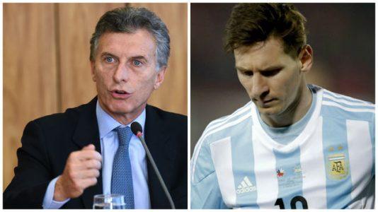 lionel messi,selección argentina,mauricio macri,