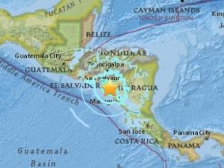 terremoto,nicaragua,occidente del país,honduras,volcán san cristóbal,