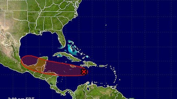 dos,hondas,tropicales,en el Caribe,