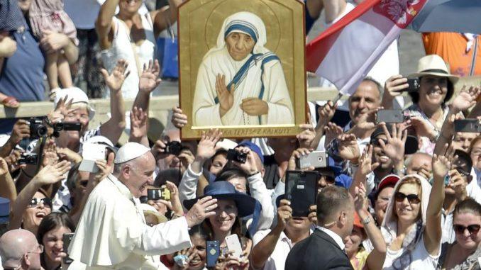 Madre Teresa de Calcuta,Papa Francisco,santa,