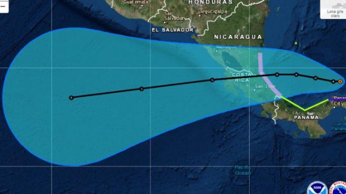 alerta roja,Caribe Sur,Tormenta Otto,