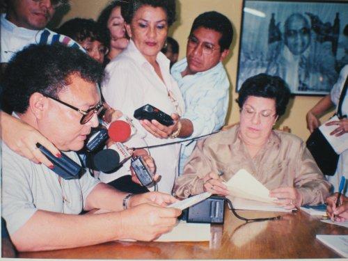 Periodista Carlos Guadamuz en el CENIDH