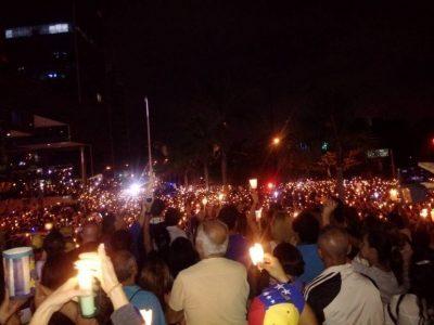 Venezuela-Protesta nocturna