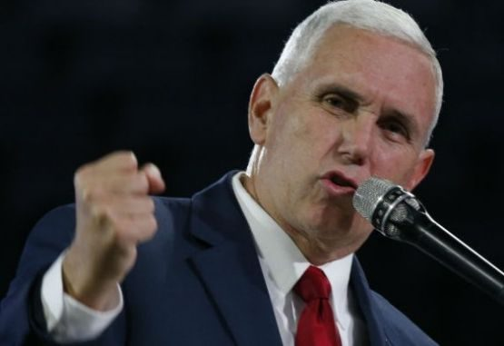 El vicepresidente de Estados Unidos, Mike Pence,