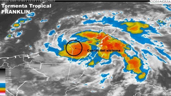 tormenta Franklin,México,
