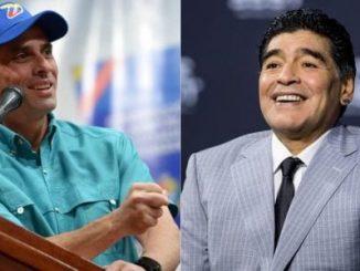 Henrique Capriles,Diego Maradona,