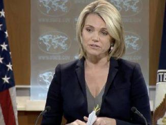 Heather Nauert, portavoz del Departamento de Estado de los Estados Unidos.