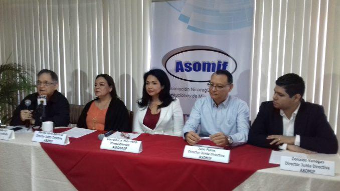Las microfinancieras nicaragüenses aglutinadas en ASOMIF reportan un leve