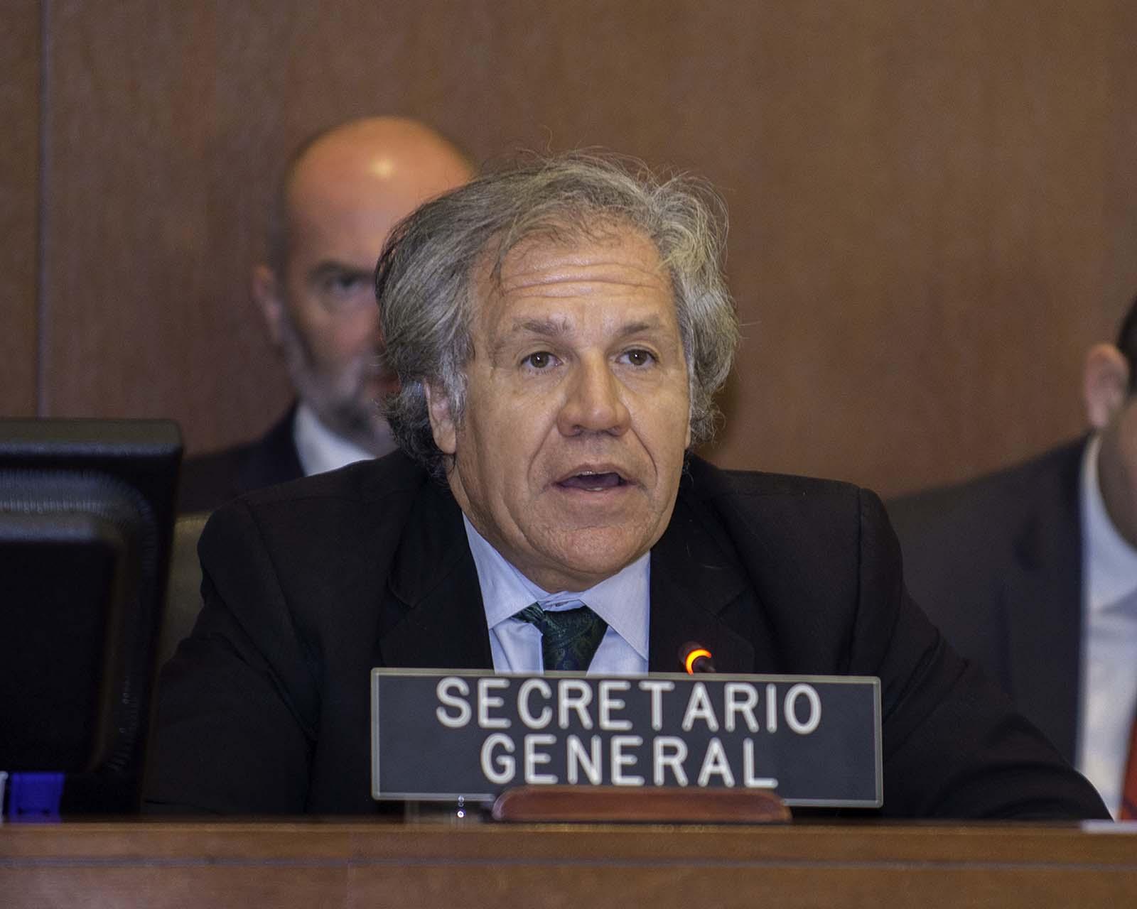 Representante de Bolivia. Foto: Juan Manuel Herrera/OAS