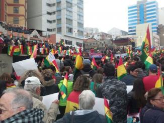 Protestas contra la reelección de Evo Morales en Bolvia