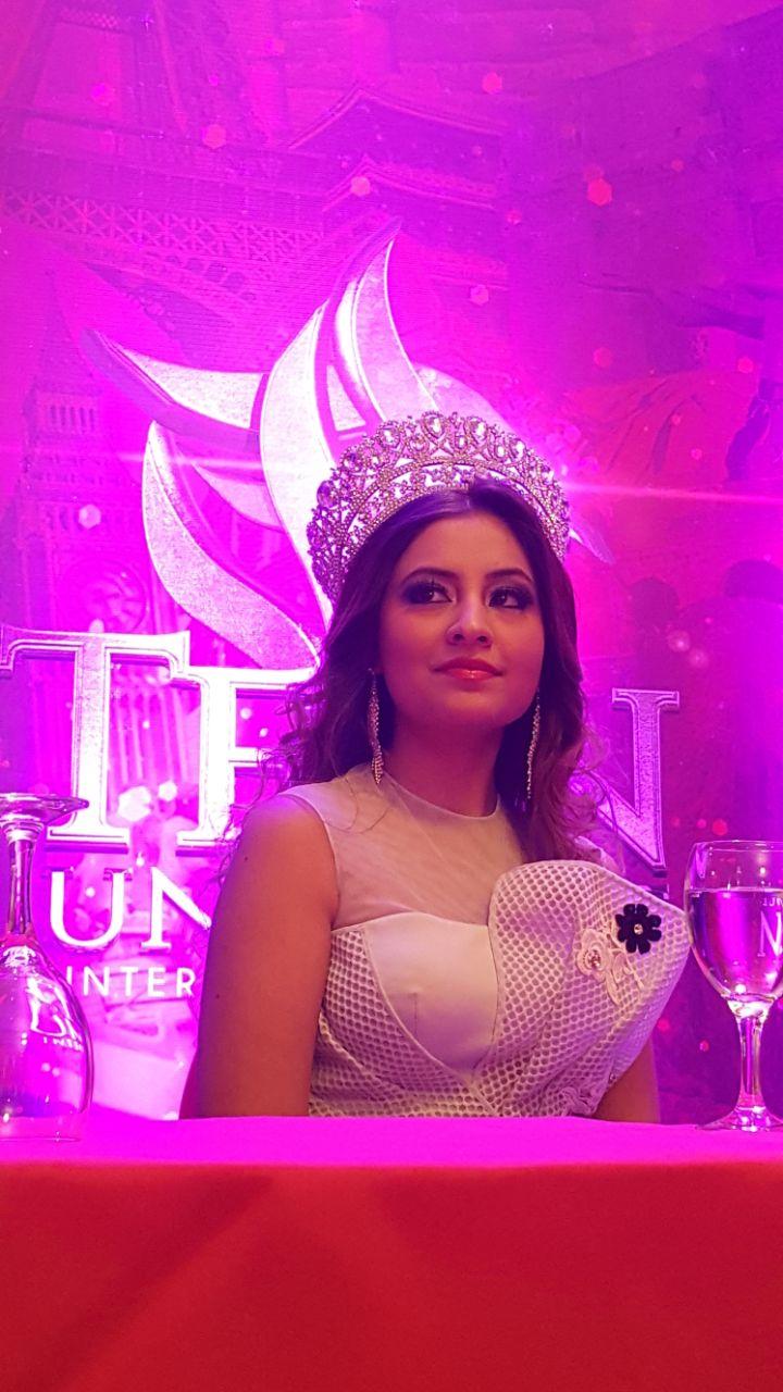 Srishti Kaur, actual Teen Universe. Foto: Marcos Medina / Radio Corporación