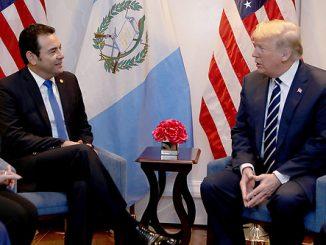 Los presidentes de Estados Unidos y de Guatemala