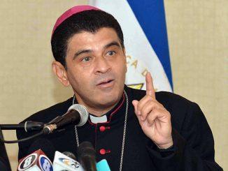 Monseñor Rolando Álvarez, obispo de Matagalpa.