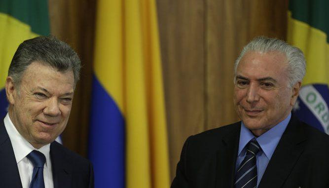 Colombia y Brasil