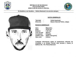 Retrato hablado presunto criminal buscado por la Policía Nacional.
