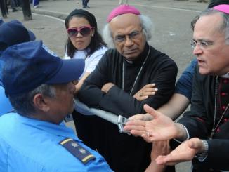 Obispo Silvio Báez y Cardenal Brenes
