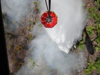 Incendio Indio Maíz. Foto: Ejército de Nicaragua