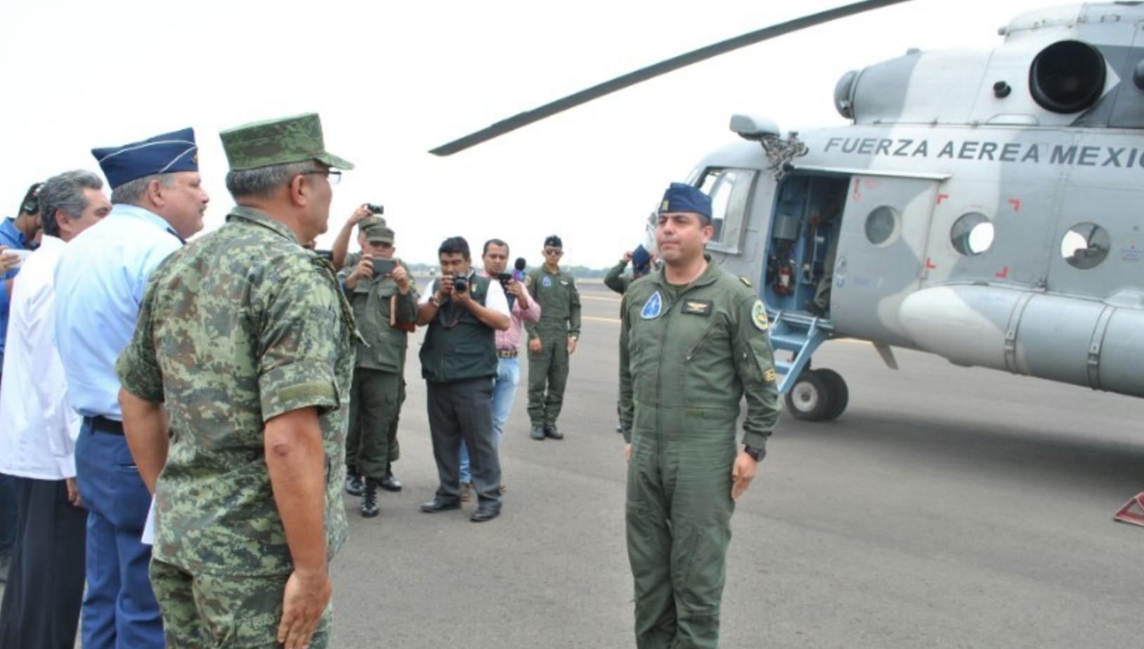 Helicóptero Fuerza Aérea Mexicana. Foto: Presidencia de Nicaragua