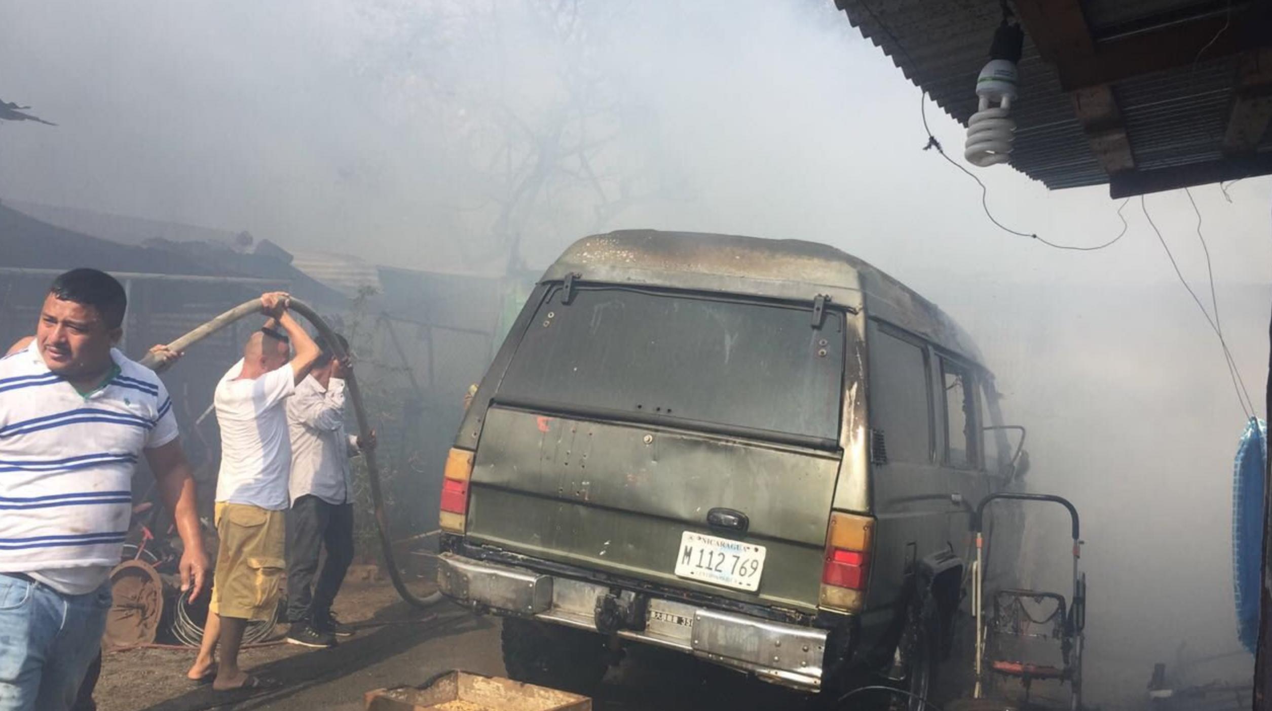 Incendio en el barrio Quinta Nina
