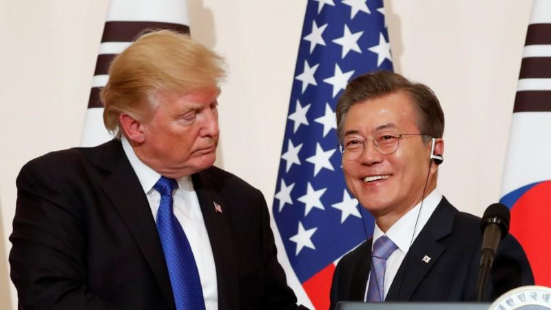 Moon Jae-in y Donald Trump