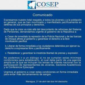COSEP,diálogo,