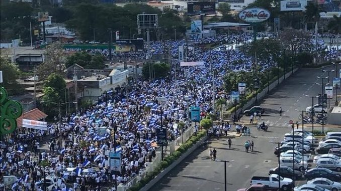 Multitudinaria marcha,Ortega,