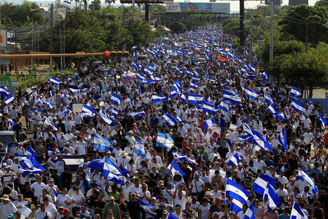 Protestas Masivas en Managua
