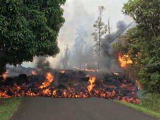 Hawaii,flujos de lava