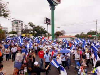 Nicaragüenses,marchas,