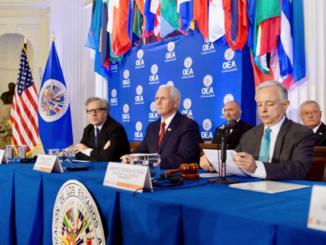 Mike Pence en la OEA
