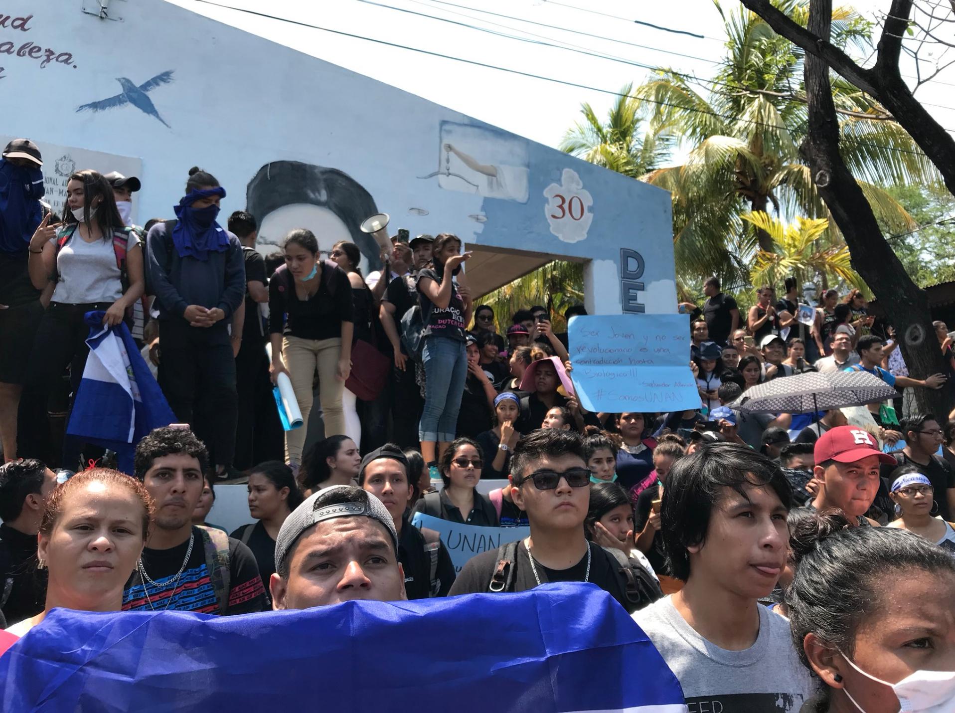 Protesta en la UNAN Managua
