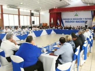 Segunda sesión del diálogo nacional