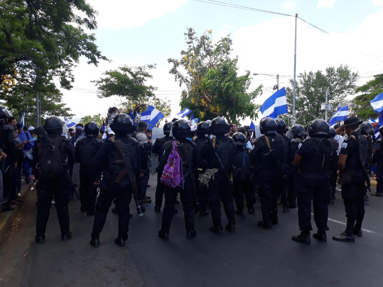 Antimotines reprimen manifestación