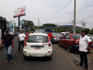 Paro de taxistas en Managua