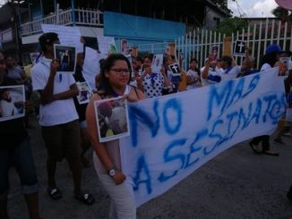 Asesinato,Bluefields,marcha,