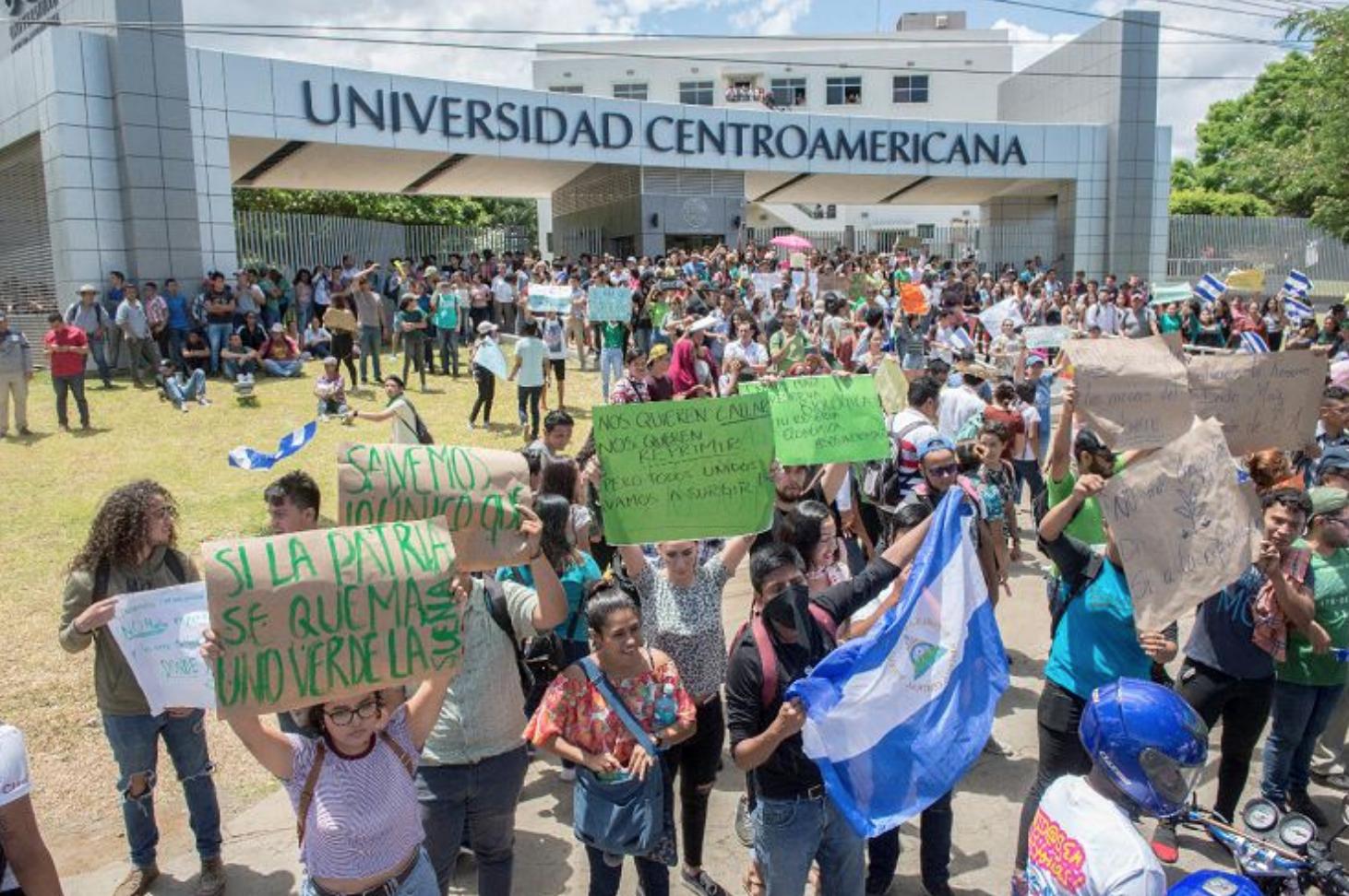 Protesta en la UCA