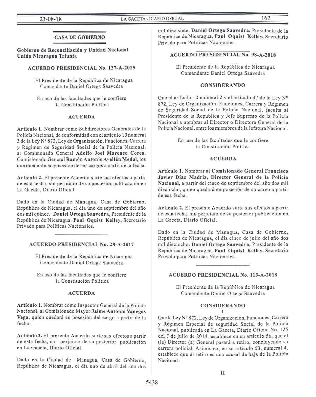 Gaceta Diario Oficial