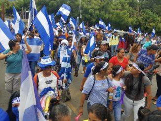 Marcha cívica en Ticuantepe