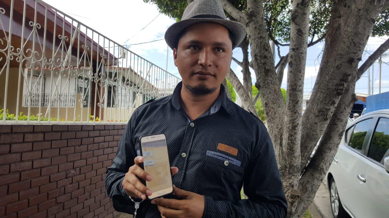 Yilber Idiaquez, corresponsal de Masaya