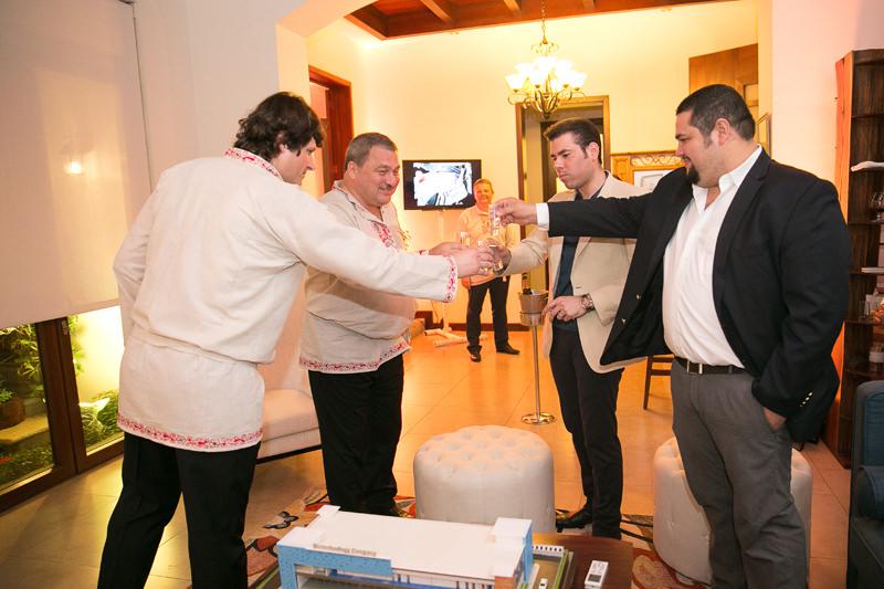 Laureano Ortega Murillo celebra fiesta rusa