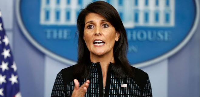 embajadora estadounidense ante Naciones Unidas, Nikki Haley
