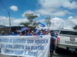 Marcha en Jalapa