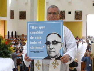 Misa en Managua por la canonización de Monseñor Oscar Arnulfo Romero. Foto: Arquidiócesis de Managau