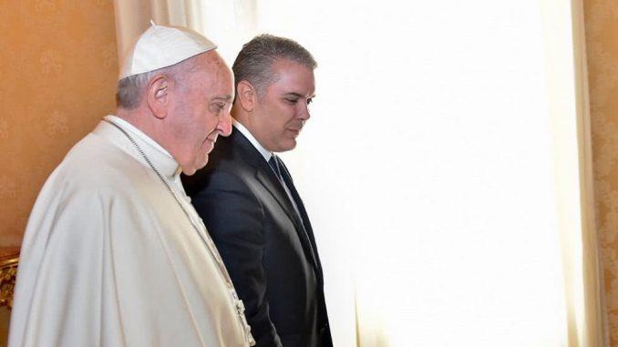 Papa Francisco,presidente Iván Duque,